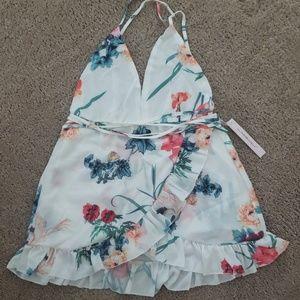 Floral Shoirt wrap dress